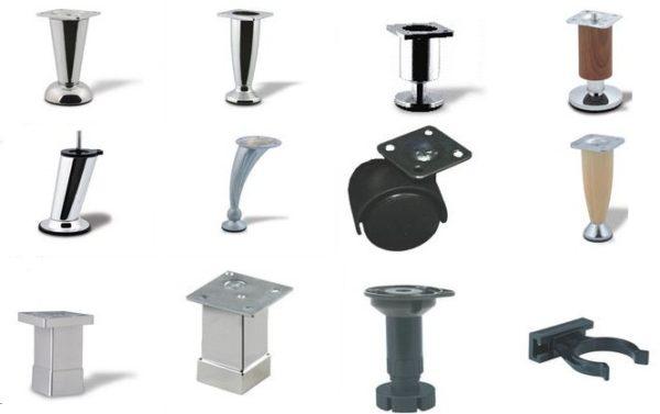 Виды мебельных ножек