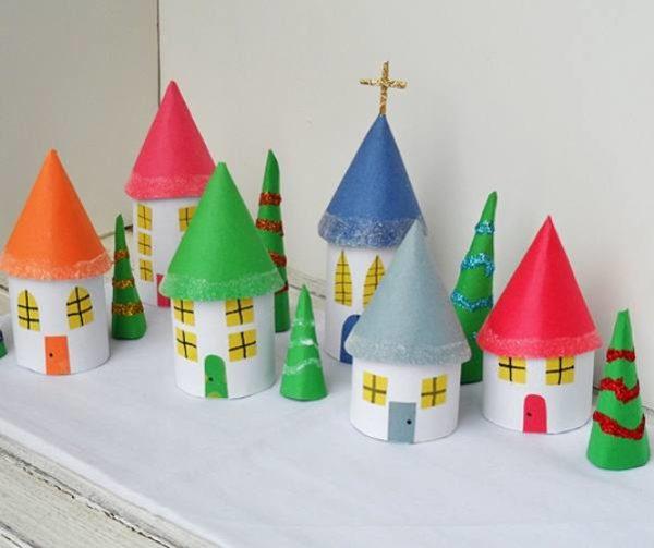 Домик из картона своими руками: жилище гномика