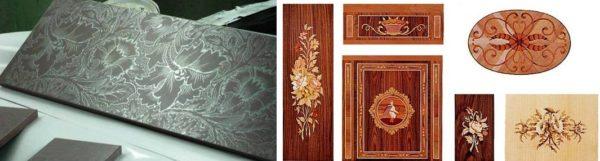 Примеры шелкографии и цифровой печати на древесине