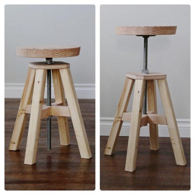 Барный стул с регулируемой высотой сидения