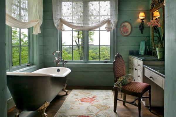 Будуарная ванная в загородном доме