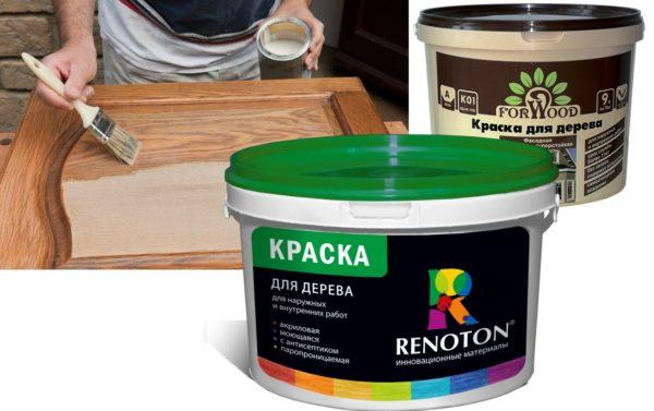 Краска - самый доступный вариант среди защитно-декоративных средств для дерева