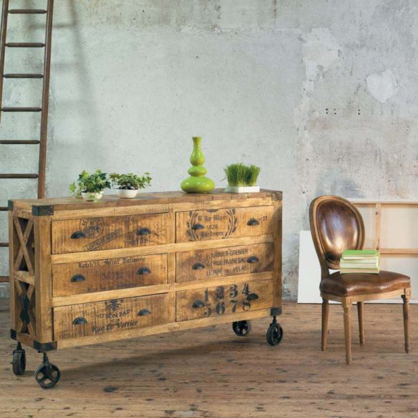 Декупаж мебели в стиле лофт