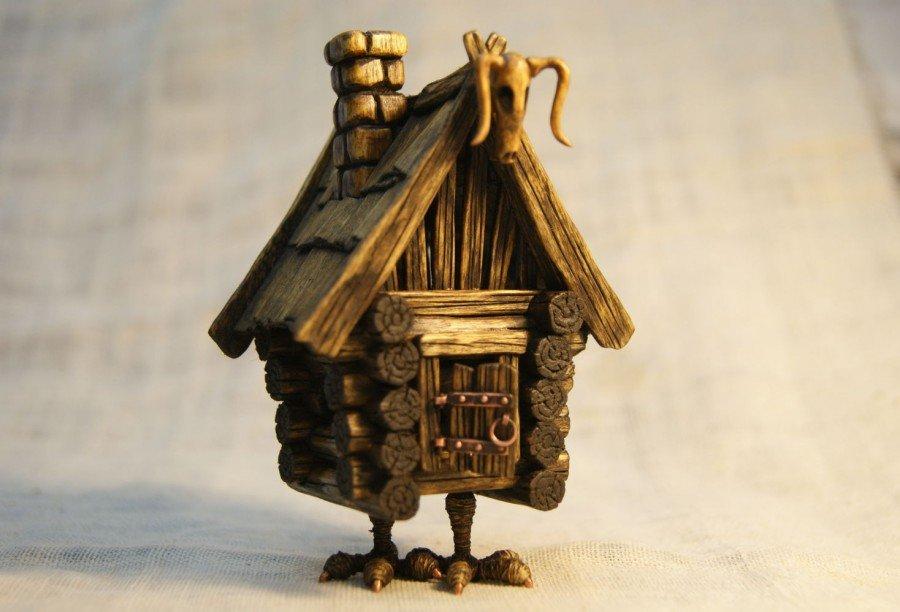 Русская изба и печка: макет своими руками