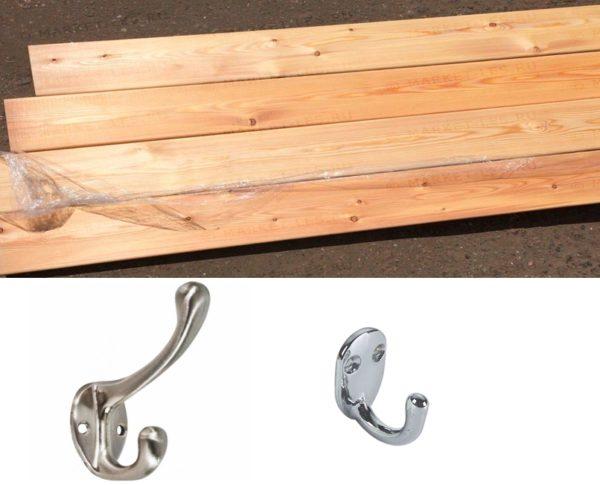 Доски и крючки для одежды
