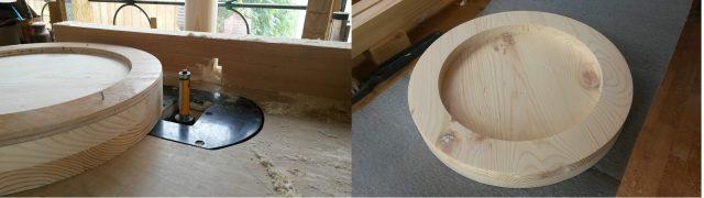 Фото процесса изготовления сидения и подножки