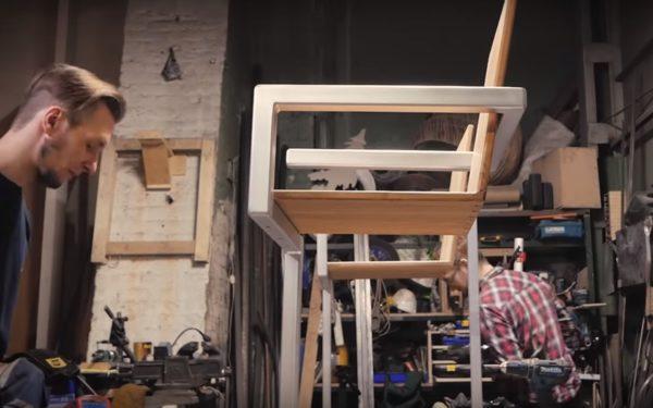 Готовый стул в стиле лофт