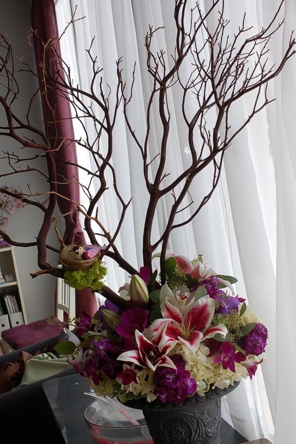 Идея для декорирования букета цветов