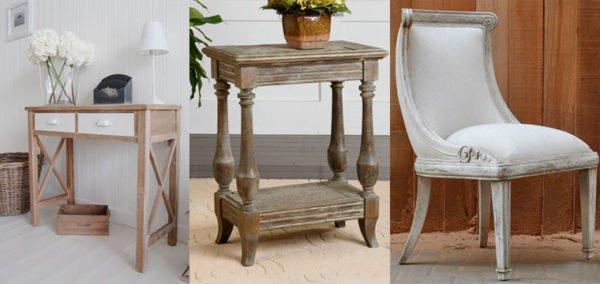 Искусственно состаренная мебель в стиле прованс