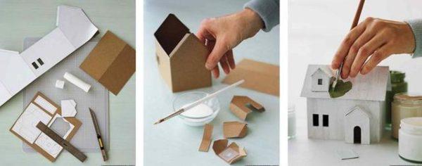 Этапы изготовления домика
