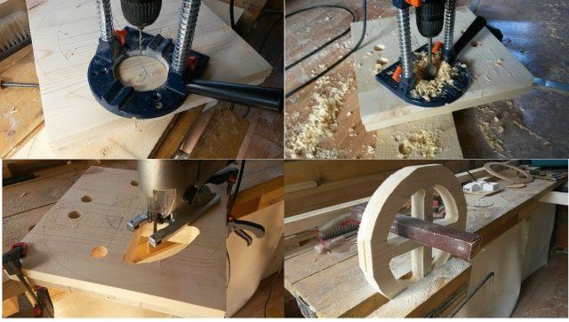 Этапы изготовления подножки для барного стула