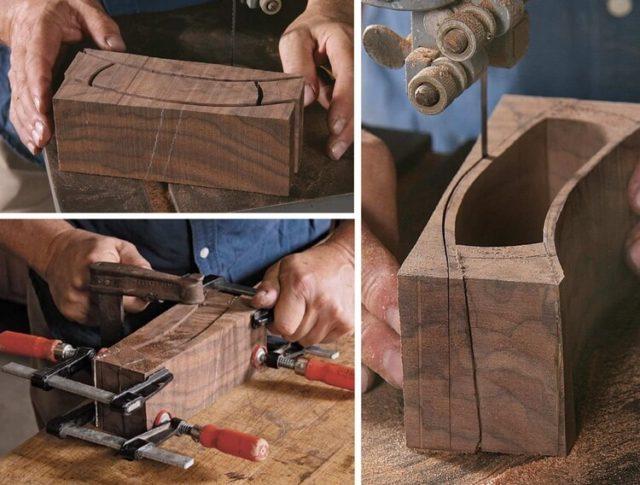 Этапы изготовления шкатулки