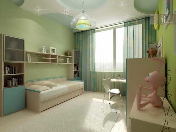 Комната, выполненная в однотонных тонах, может быстро наскучить ребенку