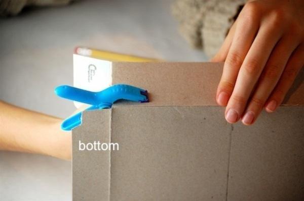 Коробка складывается рисунком вовнутрь