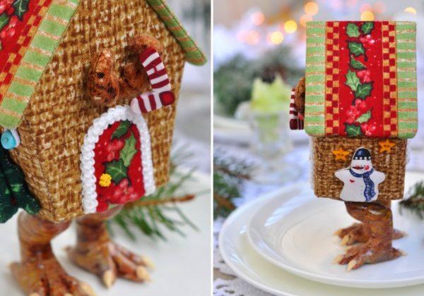 Красивый домик можно сделать из любого материала