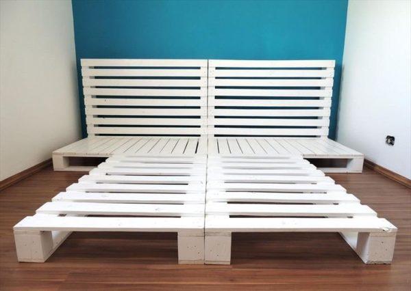 Кровать из европоддонов в стиле loft