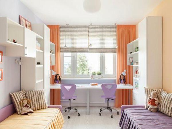 Мебель для детской комнаты для двух девочек