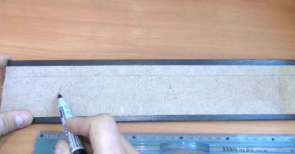 Нанесение отметок для отверстий под магниты