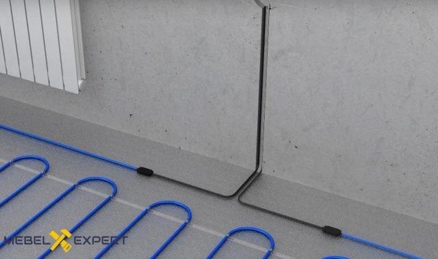 Подводка установочных проводов к терморегулятору