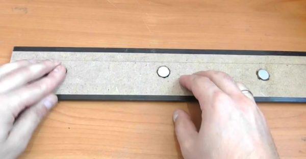 Погружение магнитов в отверстия