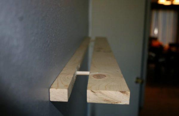 Потайное крепление полок к стене без видимого крепежа