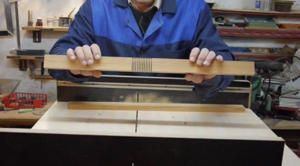 Проделывания прорезей в деревянных балках