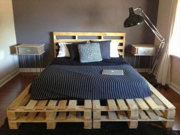 Простая кровать из паллет своими руками