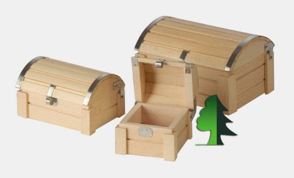 Простейшие сувенирные сундучки из дерева