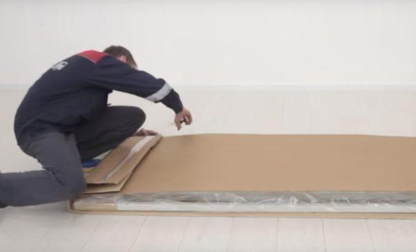 Распаковка элементов дивана