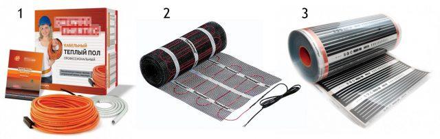 Разновидности электрического теплого пола
