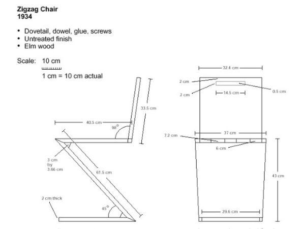 Схема будущего стула
