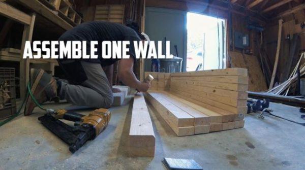 Склеивание брусьев для длинных стенок конструкции