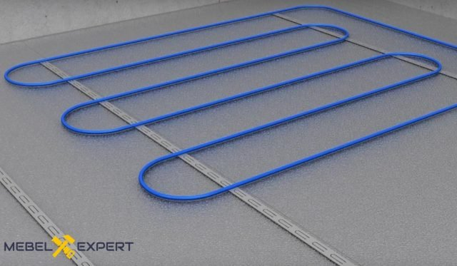 Укладка нагревающего кабеля