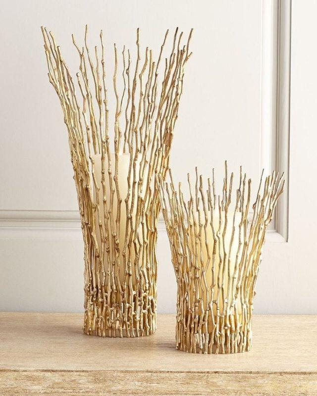 Уникальные позолоченные вазы