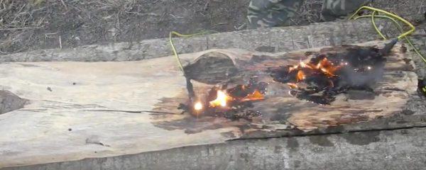 Выжигание узора на древесине