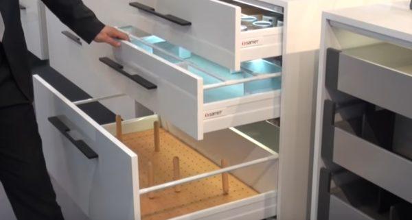 Ящики могут иметь различную высоту