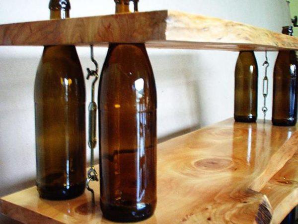 Вместо труб можно использовать стеклянные бутылки