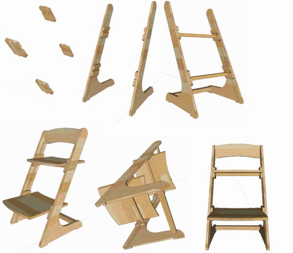 Растущий стул, вариант 1