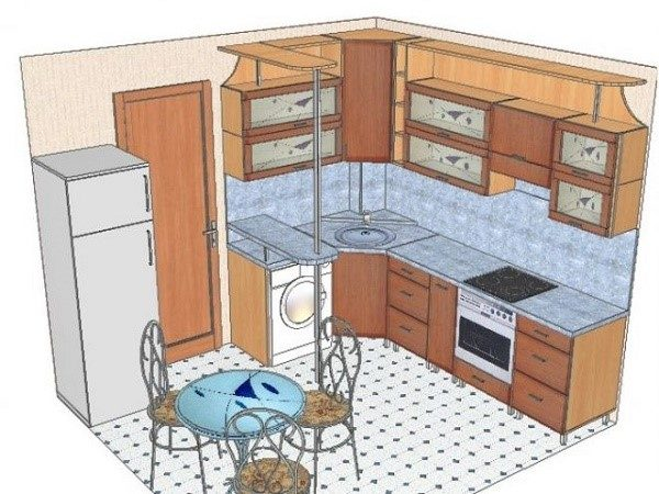 Если кухня является проходной комнатой, то нужно быть еще более внимательными к безопасности расстояний