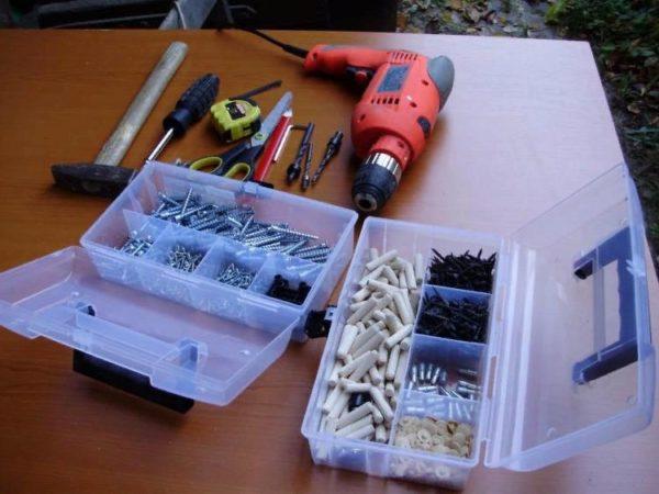 Инструменты, используемые в процессе работы