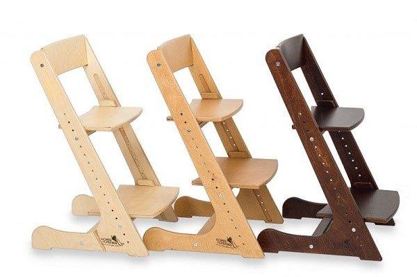 Стулья-трансформеры - растущие деревянные стулья, приспосабливаемые под детей разного возраста