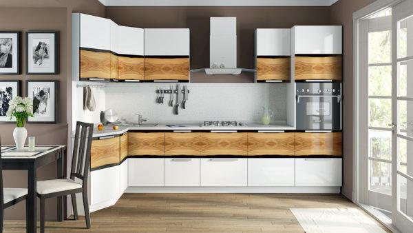 Минималистический фасад кухонного гарнитура из ЛДСП