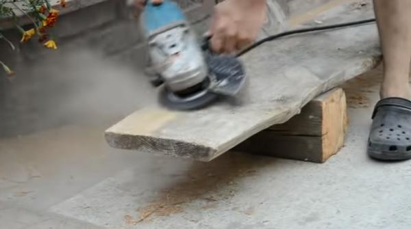 Обработка поверхности досок