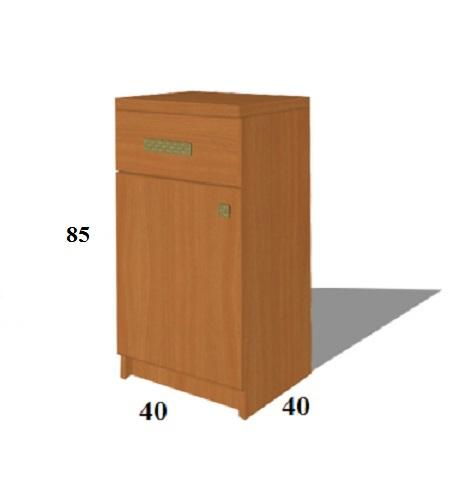 Оптимальные размеры одностворчатой и двустворчатой тумб для небольшой прихожей