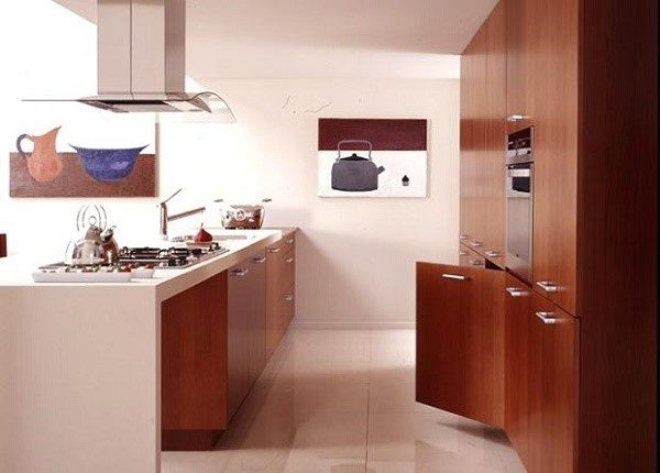 Кухня двухрядная