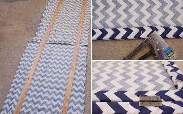 Петли крепят поверх текстильного слоя