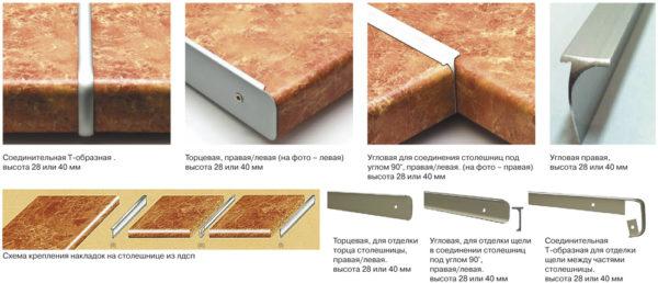 Разновидности алюминиевых планок