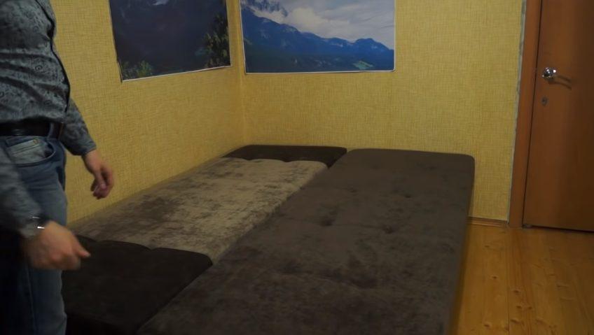Этот же диван в разложенном виде