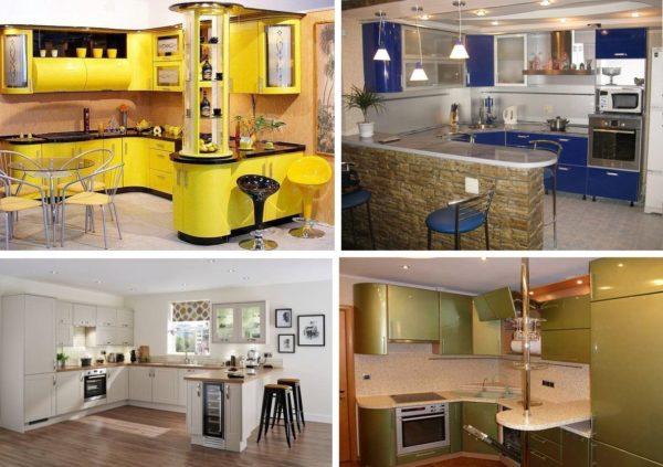 Барные стойки отличаются между собой не только размерами и внешним видом, но и расположением относительно кухонного гарнитура