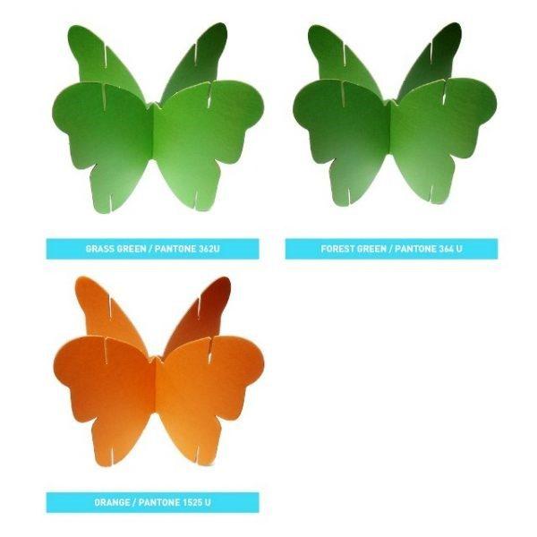 По такому же принципу можно сделать конструкцию с бабочками, делая соединения деталей в пазах